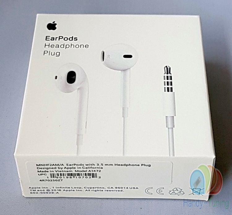 Original Blister Apple MD827 MNHF2ZM/A EarPods InEar Headset Weiss optimaler Klang Blister
