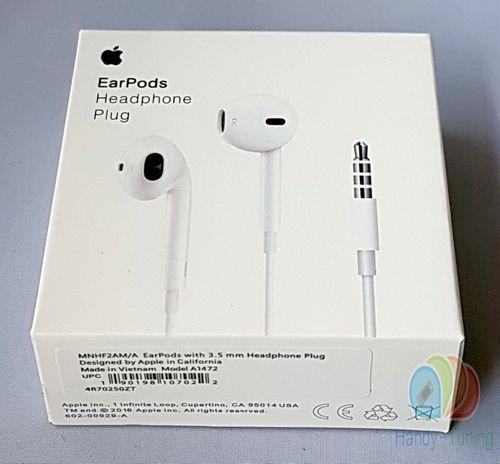 Original Blister Apple MD827 MNHF2ZM/A EarPods InEar Headset Weiss optimaler Klang Blister
