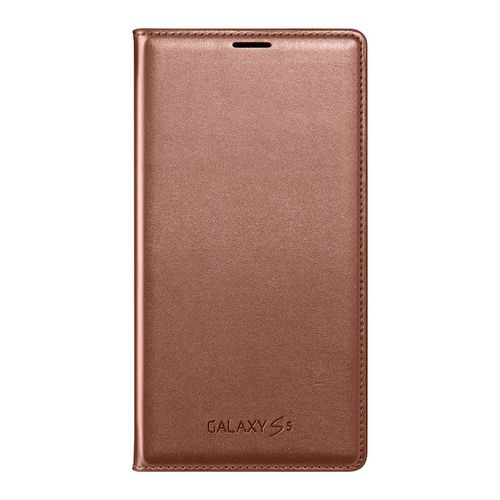 Samsung EF-WG900BFEG Flip Wallet Hülle für Galaxy S5 in Rose Gold