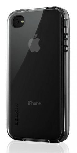 Belkin Grip Vue TPU Cover Hülle iPhone 4 Schwarz