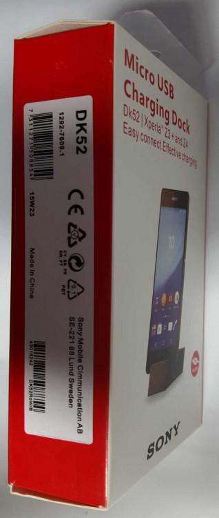 Blister Sony DK52 Magnet Lade Dockingstation Xperia Z3+, Z4 Z5, M5 Compact