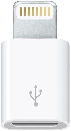 Original Apple MD820ZM/A Micro USB Adapter, 2 x Displayschutzfolie iPhone 5/5S/5SE