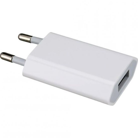 Original Apple MD813 A1400 USB Strom Lade Adapter 5W, iPhone 4 4S Bulk, 3 x Displayschutzfolie