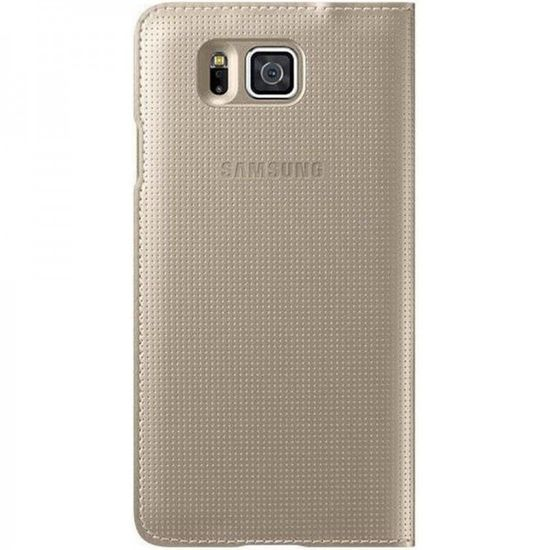Samsung Galaxy Alpha Flip S-View Cover Hülle EF-CG850BFEG Gold