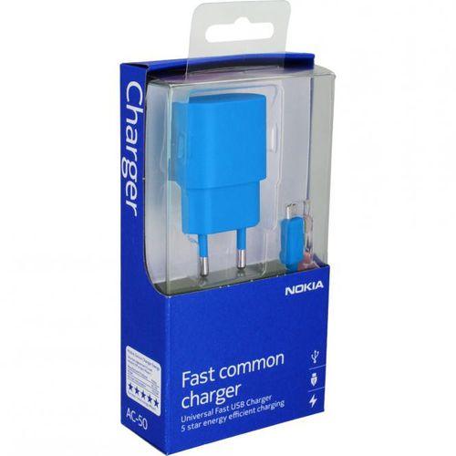 Nokia AC-50E USB Reiseladegerät Netzteil Nokia für Lumia Smartphone - Blau