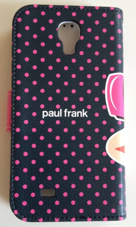 Original Paul Frank® Diary Tasche Cover Kunstleder Samsung Galaxy S4 / LTE mit Design Headphone pink/schwarz