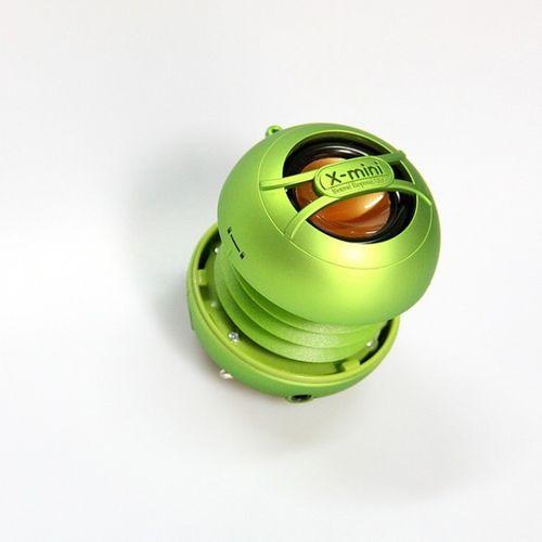 X-mini UNO Capsule tragbar Stereo Lautsprecher aufladbar Grün MP3 Player Smartphone