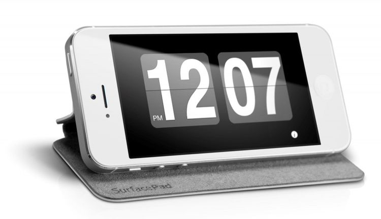 Twelve South SurfacePad Echtleder Wallet Hülle für Apple iPhone 5 5S Weiss