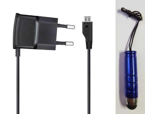 Original Samsung MicroUSB Reiselader Ladegerät ETA0U10EBE Netzteil Schwarz mit Stylus