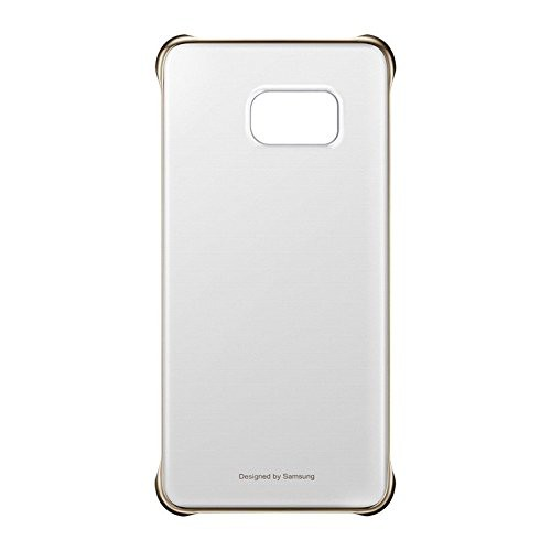 Samsung EF-QG928CFE Hard Cover Hülle Transparent Gold, G928 Galaxy S6 Edge+