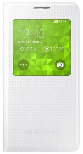 Samsung Galaxy Alpha Flip S-View Cover Hülle EF-CG850BWEG Weiss