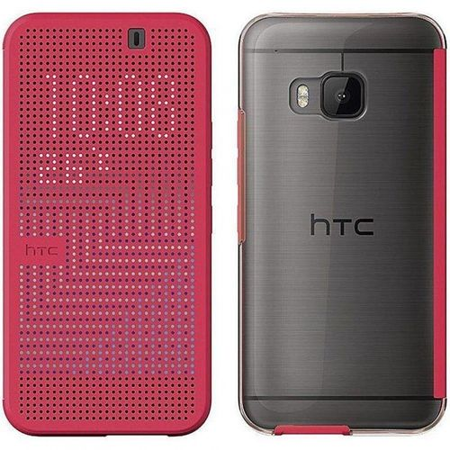 HTC HC M232 Dot View Ice Premium Cover Hülle für One M9 in pink