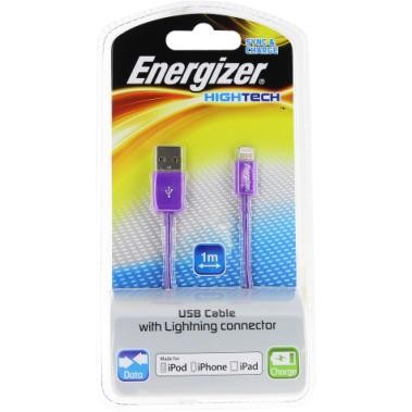 Energizer HighTech Lightning 1m Kabel Violett, iPhone 7 SE 5S 6 6S iPad