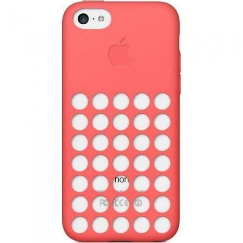 Apple MF036ZM/A Silikon Cover Hülle, iPhone 5c in pink