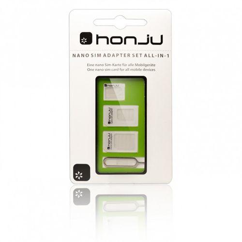 honju HSA01 nano SIM-Adapter-Set All-in-1 für Smartphones, micro SIM, Standard SIM