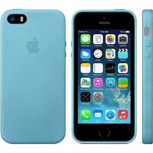 Apple MF044 Leder Cover Schutzhülle, iPhone SE 5 5S Blau