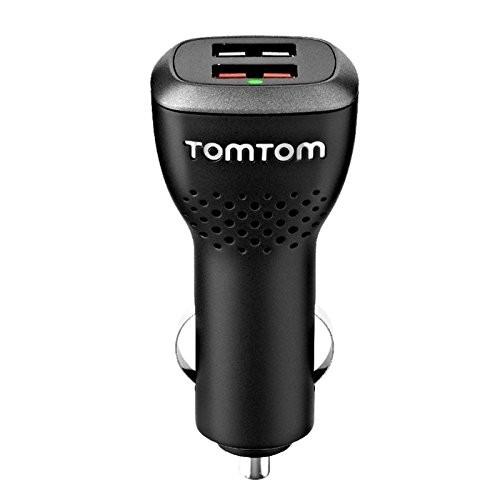TomTom Schnellladegerät mit 1x 2.4A USB-Anschluss und 1x 1.5A, für alle Smartphone Tablet