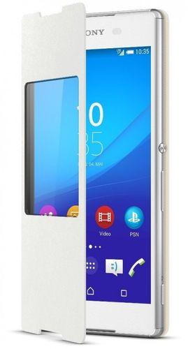Sony SCR30 Cover Flip mit Fenster Folio für Xperia Z3+ in weiss