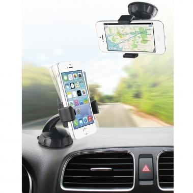 Bundle Muvit Universal KFZ Halterung 360°, für Windschutzscheibe Armatur, 2 x Displayschutzfolie Galaxy S6