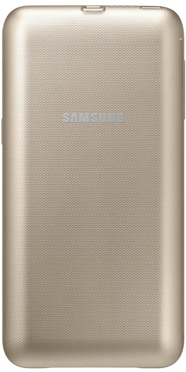 Samsung EP-TG928BFEG Wireless 3400mAh Akku Cover Hülle Gold, Samsung Galaxy S6 Edge+