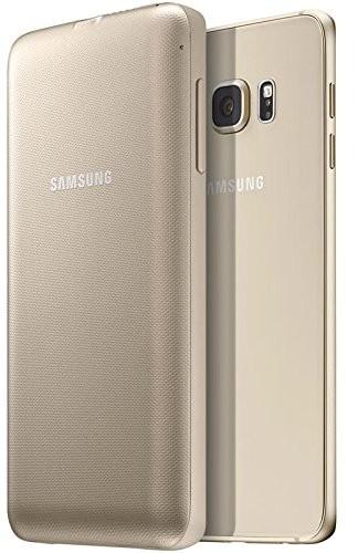 Samsung EP-TG928BFEG Wireless 3400mAh Akku Cover Hülle Gold, Samsung Galaxy S6 Edge+