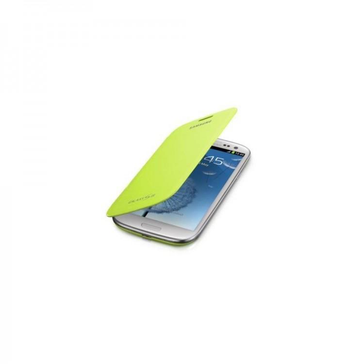 Original EFC-1G6FME Flip Cover Hülle, Galaxy S3 S3 LTE grün Bulk