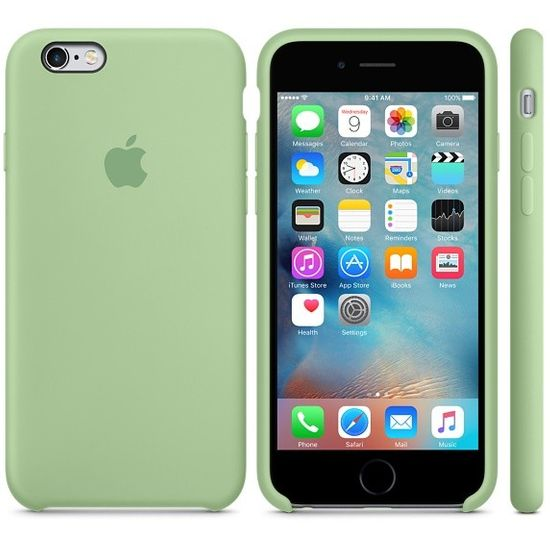 Apple MM612FE/A Silikon Cover Hülle für iPhone 6 6S mint grün
