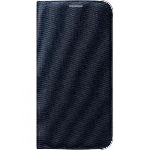 Samsung EF-WG920BBEGWW Flip Wallet Cover, Galaxy S6 fabric schwarz