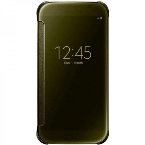 Samsung EF-ZG920BFE Clear View Klarsicht Cover für Galaxy S6 gold