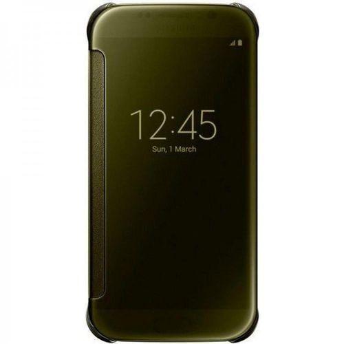 Samsung EF-ZG920BFE Clear View Klarsicht Cover für Galaxy S6 gold