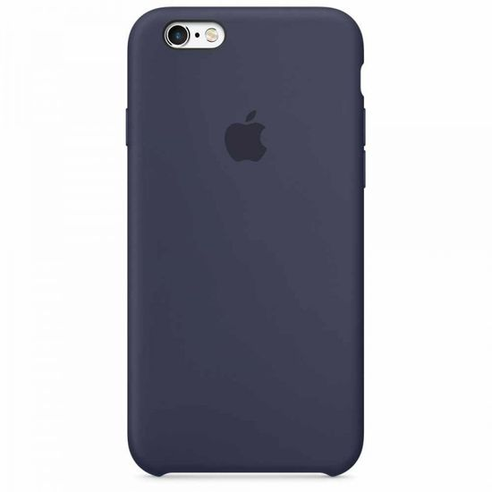 Apple Silikon Cover Hülle Mikrofaser für iPhone 6 6S midnight blau