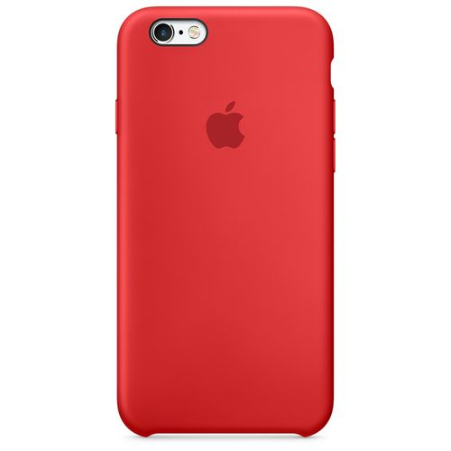 Originalverpackt Apple Silikon Cover Hülle Mikrofaser für iPhone 6 6S rot