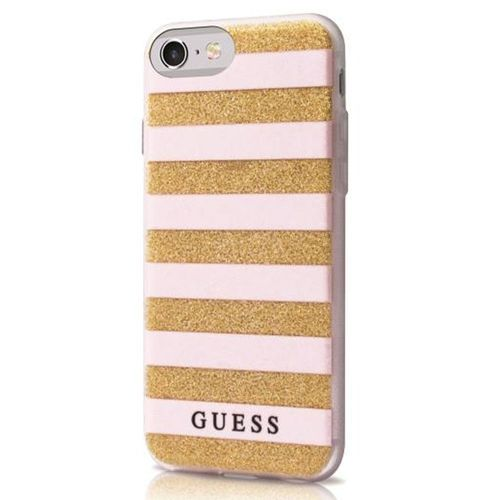 Guess Stripes Hard Cover Hülle beige/gold für Apple iPhone 6/6S