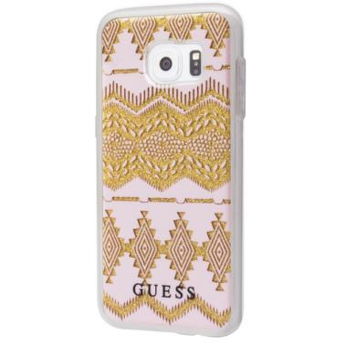 Guess Tribal Hard Cover Hülle beige für Samsung Galaxy S7