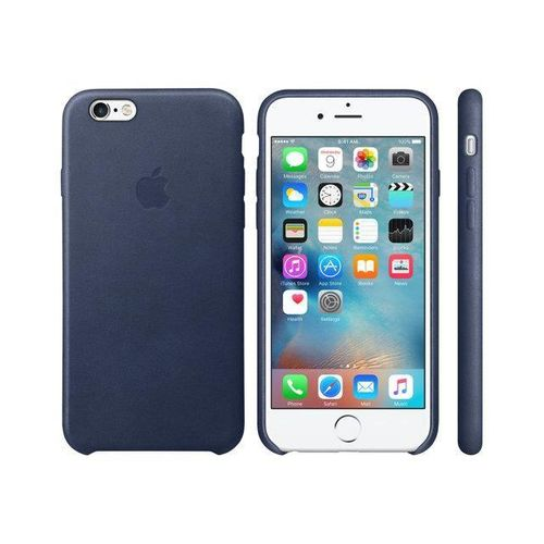 Apple MKXU2ZM/A Leder Cover Hülle für iPhone 6  / 6S  - Mitternacht Blau