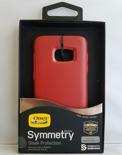 OtterBox Symmetry Cover Hülle für Samsung Galaxy S7 - corsa rot