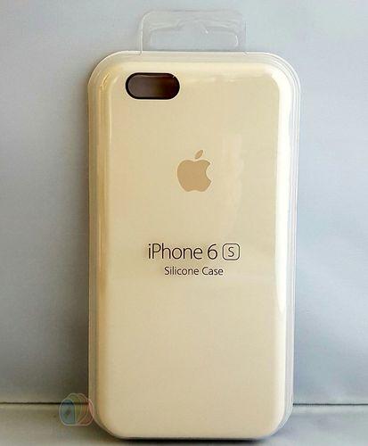 Originalverpackung Apple Silikon Cover Hülle für iPhone 6 6S in altweiss