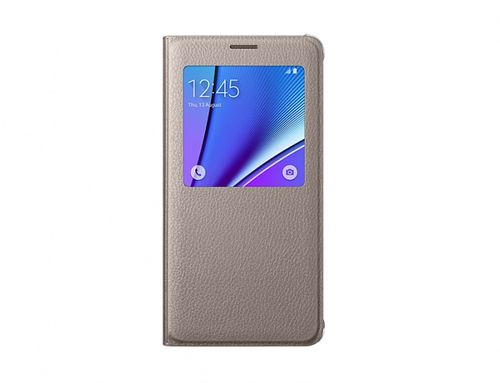 Samsung Buk EF-CN920PFEG S-View Cover Hülle Galaxy Note 5 gold
