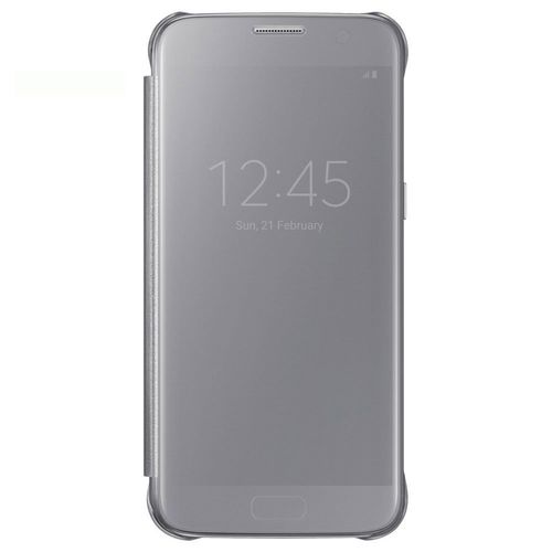 Samsung Blister EF-ZG930CSE Clear View Book Cover Hülle silber für G930F Galaxy S7