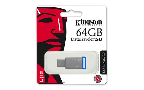 Kingston DataTraveler 50 USB-Speicherstick 3.0 mit 64GB