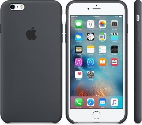 Originalverpackt Apple Silikon Cover Hülle, iPhone 6+ Plus 6s+  anthrazit grau