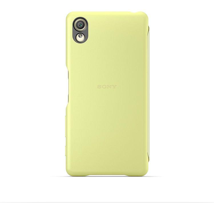 Sony SCR50 Smart Style Touch Hülle Cover für Xperia X - lime grün