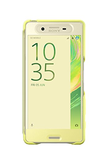 Sony SCR50 Smart Style Touch Hülle Cover für Xperia X - lime grün