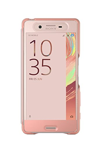 Sony SCR50 Smart Style Touch Hülle Cover für Xperia X - rose gold