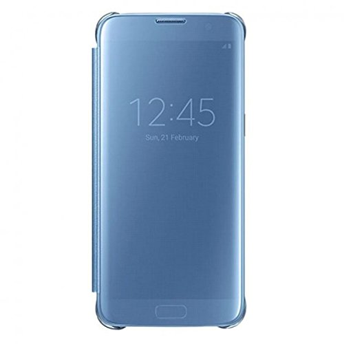 Samsung EF-ZG935CLE Clear View Book Cover Hülle blau, Samsung G935F Galaxy S7 Edge