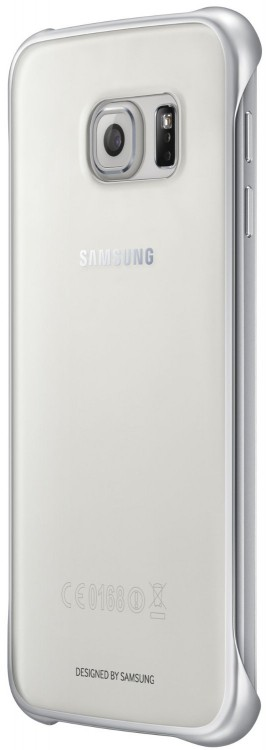 Samsung EF-QG920BSEGWW Clear Cover Clip-On für Galaxy S6 silber