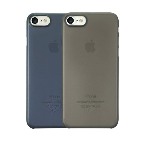 Ozaki OC720Kd O!Coat 0.3 Jelly Cover Hülle 2er Set für Apple iPhone 8 / 7 schwarz blau