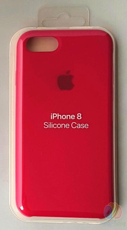 Apple Silikon Mikrofaser Cover Hülle für iPhone 8 / 7 - Rosenrot