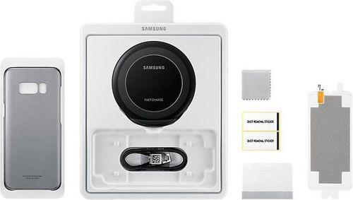 Samsung Starter Kit EB-WG95 Qi Ladestation und Cover, Folie für Samsung Galaxy S8