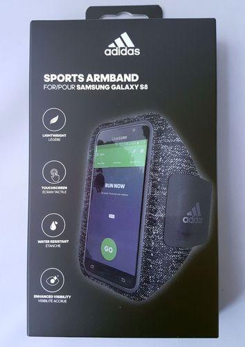 Adidas Originals Sports Armband atmungsaktiv für Samsung Galaxy S8 - Schwarz